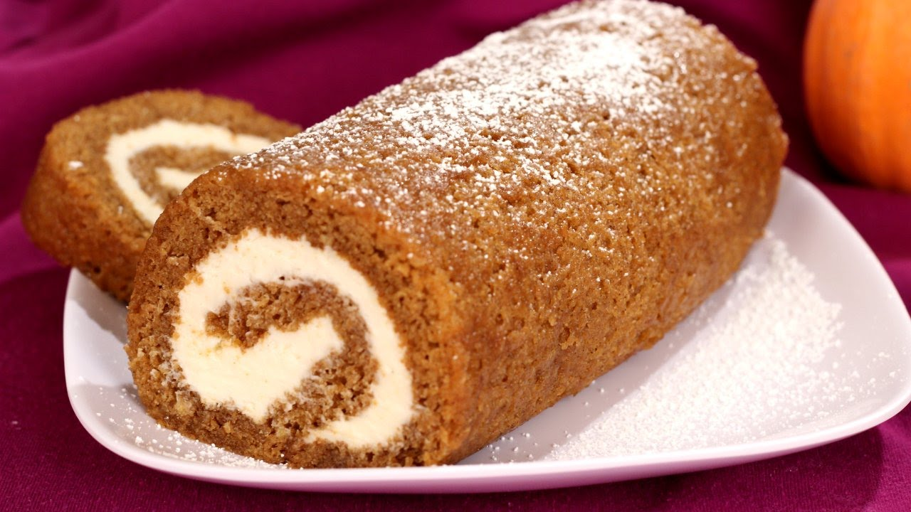 Pumpkin Cake Roll - Springer's Kitchen